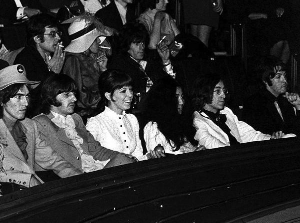 The Beatles et al just moments before David took his seat next to Keith Richards