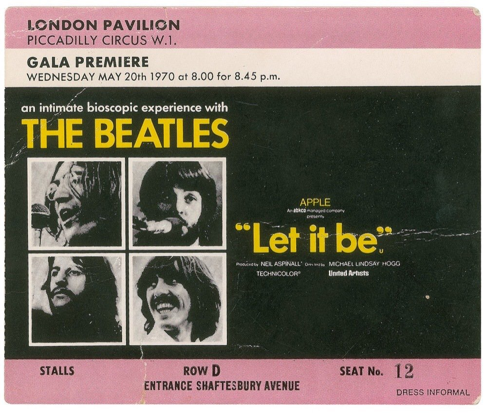 Let It Be ticket