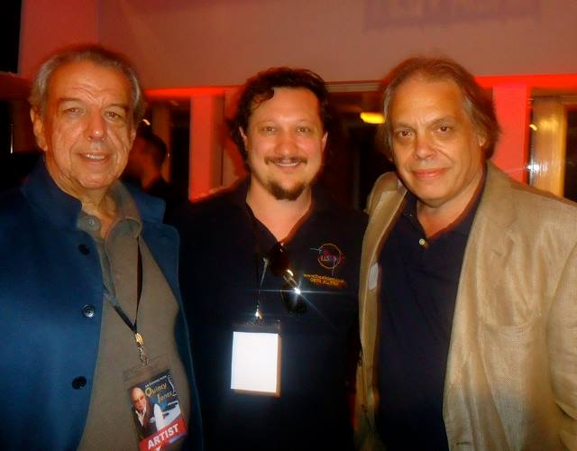 Rod Temperton with Paul Pacifico (AIM) and SongLink editor David Stark at a London tribute show to Quincy Jones.