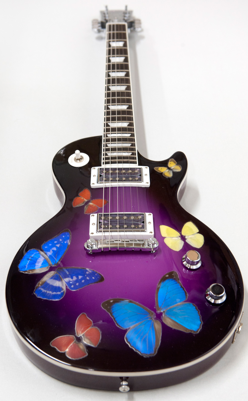 Damien Hirst 'Butterfly' guitar, signed by Hirst