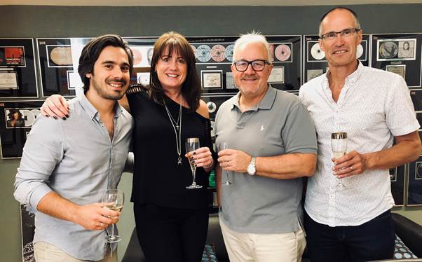 L to R: Frankie Videtta (Copyright Manager), Anne Miller (Director of TV & Film), Nigel Elderton (European President) & Paul Flynn (UK & European Finance Director)